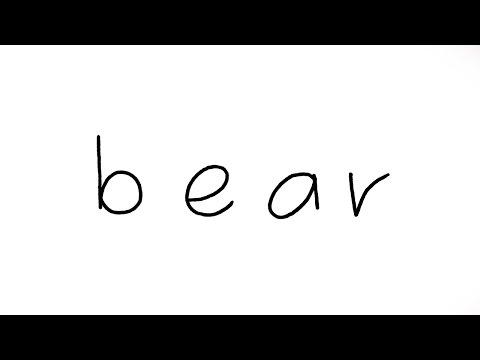 How to Turn word bear into a Cartoon Bear (Wordtoon) Easy Bear Drawing