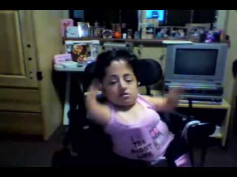 Deformed Girl In Wheelchair Dances To Madonna