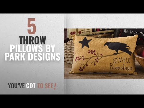 Top 10 Park Designs Throw Pillows [2018]: Simple Blessings Decorative Embroidered Accent Pillow with