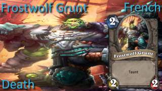 Frostwolf Grunt card sounds in 12 languages -Hearthstone✔