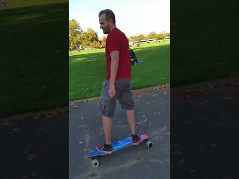 Riding the Backfire 2 boards in Brussels - warmest 15 Oct 2017 on record