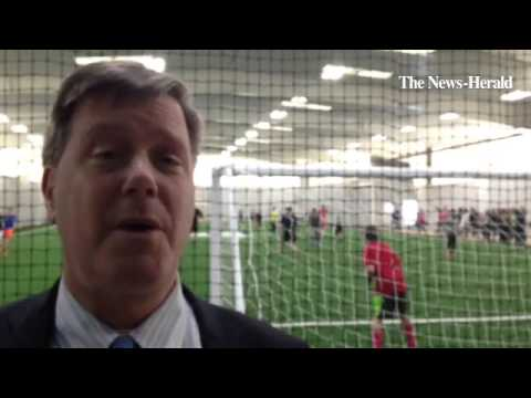 Video: Andrews Osborne Academy in Willoughby hosts Indoor Athletic Center grand opening celebration.