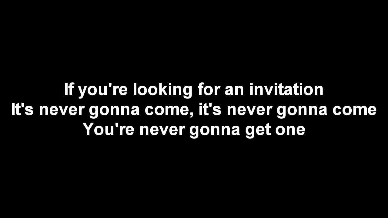 Benji hughes waiting for an invitation lyrics youtube benji hughes waiting for an invitation lyrics stopboris Image collections