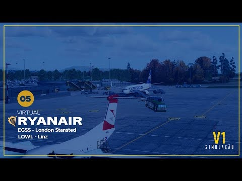 P3DV4   Ryanair Virtual   London Stansted   EGSS   STN → Linz   LOWL   LNZ