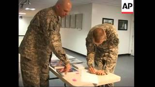 US troops cast overseas ballot in presidential elections