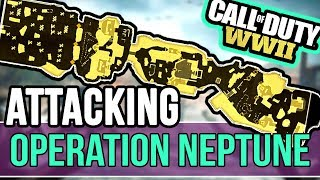 Attacking Operation Neptune COD WW2 - Call of Duty WAR GUIDE - BEST WAR TIPS!!