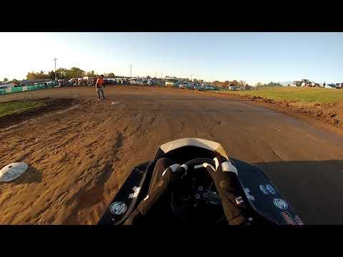 Rice Lake Speedway Kart Track, 10-19-19. Heat Race 2, Pumpkin 100.