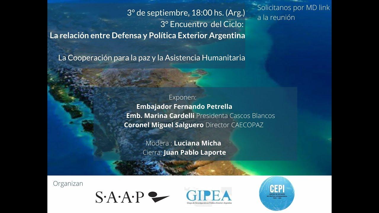 La Relación entre Defensa y Política Exterior Argentina #3