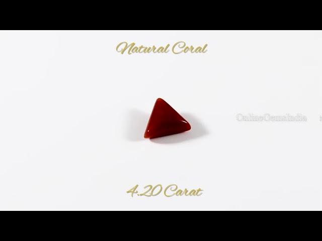 NATURAL RED CORAL (ITALIAN ) 4.20 CARAT