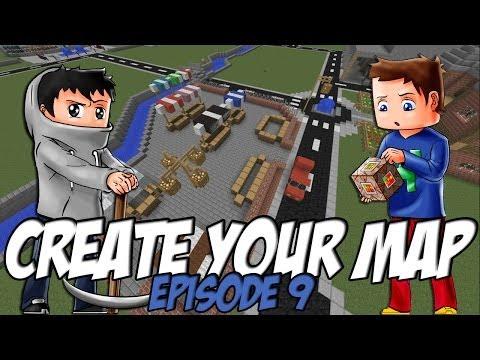 Create Your Map | Un Peu de Relief / Marché | Episode 9 / Minecraft