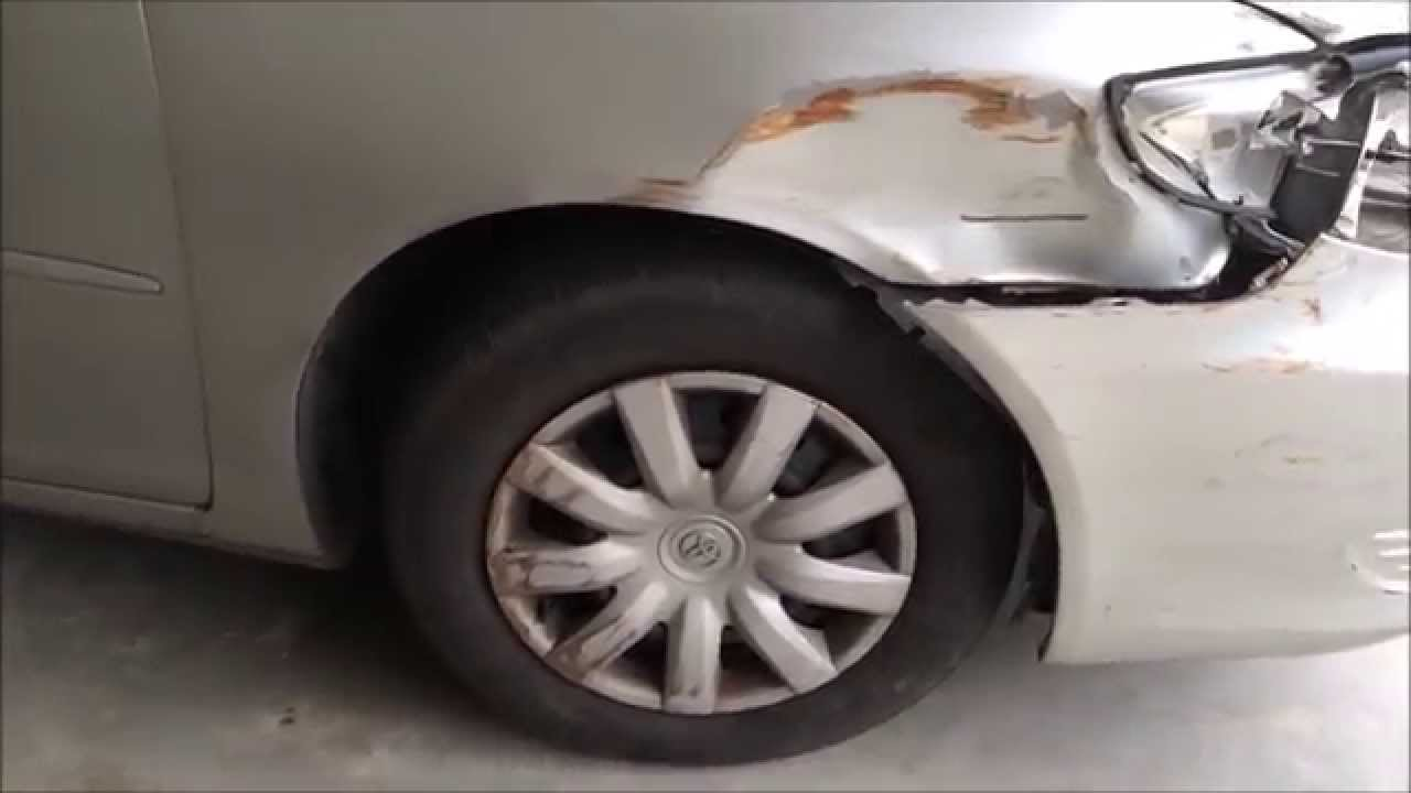 How I Fixed My 2005 Toyota Camry Front End Damage - YouTube