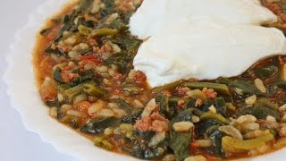 Шпинат с рисом! Рецепт шпината с рисом.Pirinçli Ispanak.