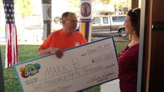 Prize Surprise! Mark B. Gets a 2nd Chance at $250,000 - There's something in the water in Longmont! Mark B. is our second Longmont winner for a 2nd Chance Drawing in just 2 weeks. He was thrilled to hear he'd won $250,000 on his