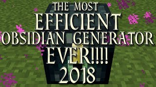 The Fastest Minecraft Obsidian Generator EVER!! | Simple Bug Exploit