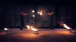 Фаер шоу в Ставрополе flashback   show  - Kot&Panda firepoi
