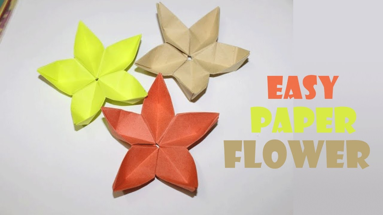 origami paper crafts ideas origami flower tutorial paper flower easy craft work 5053
