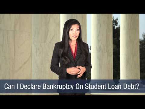 Can I Declare Bankruptcy On Student Loan Debt?