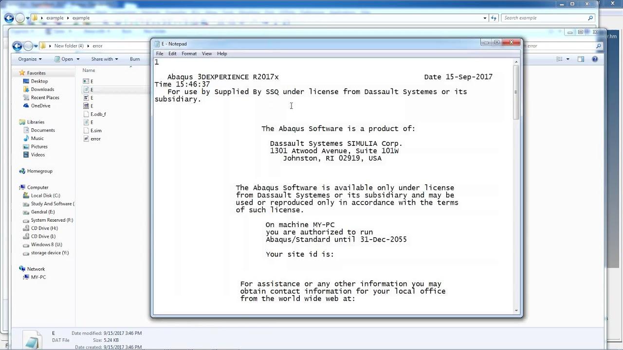 abaqus 6.11 crack license file