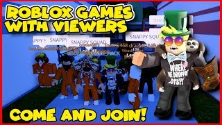 🔴Roblox Mad City, Jailbreak AND Bloxburg +Random Games with VIEWERS!