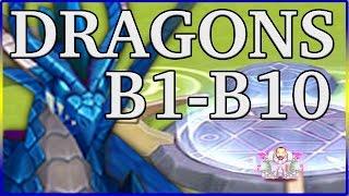 summoners war ultimate dragons lair guide b1 b2 b3 b4 b5 b6 b7 b8 b9 b10