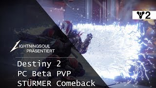 Destiny 2 PC BETA PVP - Striker Comeback! | Deutsch | HD