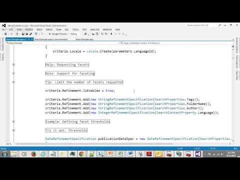Ektron Search Framework API Tutorial - Developer Office Hours