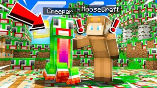 Minecraft But EVERYTHING You Touch Turns to UNSPEAKABLE & MOOSECRAFT!