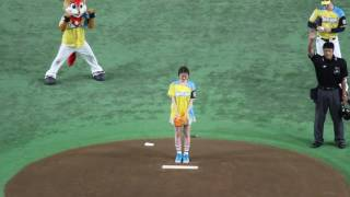 2017.5.13の日本ハムVSロッテの一戦で鈴木ちなみさんが始球式をおこな...