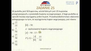 [Zadanie 25] Matura z matematyki poziom podstawowy. Maj 2018.