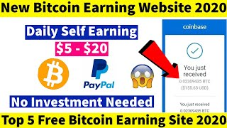 New Free Bitcoin Earning Website 2020 | Earn Money Online - No Investment