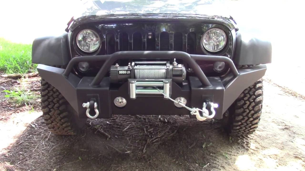Winch For Jeep >> Jeep Wrangler Winch Bumper Install Part 1