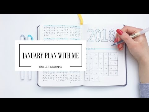 JANUARY 2018 PLAN WITH ME | Bullet Journal