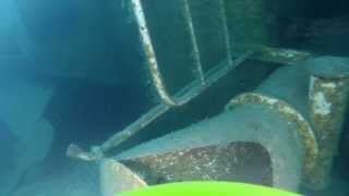 VideoRay Pro 4 Remotely Operated Vehicle (ROV) films wrecked freighter in Lake Khövsgöl, Mongolia