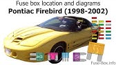 Fuse Box Location And Diagrams Pontiac Firebird 1992 1997 Youtube