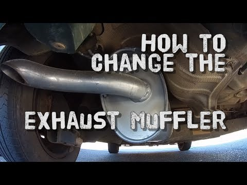 How to Change your Exhaust Muffler - Fiat Punto Mk2 - Work on every car