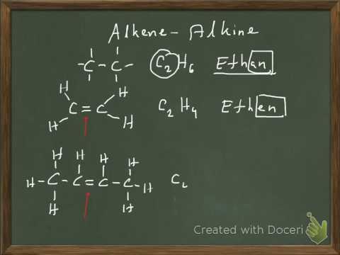 Nachhilfe Chemie: Alkene und Alkine