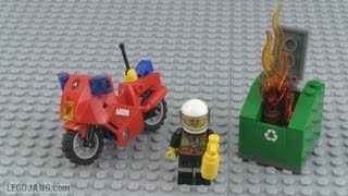 LEGO Fire Motorcycle 60000 build & review!
