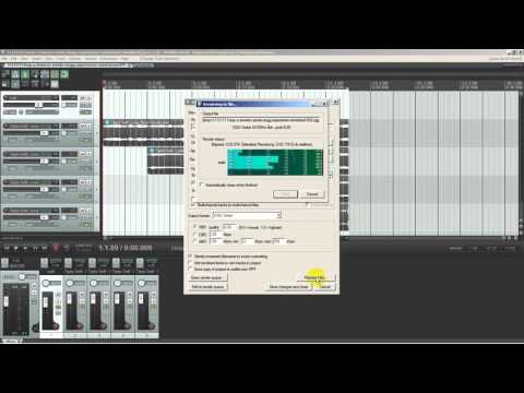 How to create multichannel multitrack mogg files with  reaper recording software