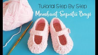 Download lagu Crochet Tutorial Membuat Sepatu Bayi Untuk Pemula Baby Girl Shoes Crochet MP3