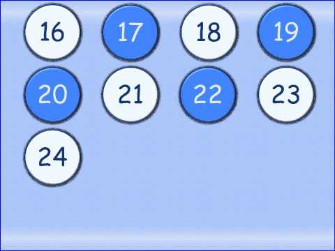 French numbers 0 to 31