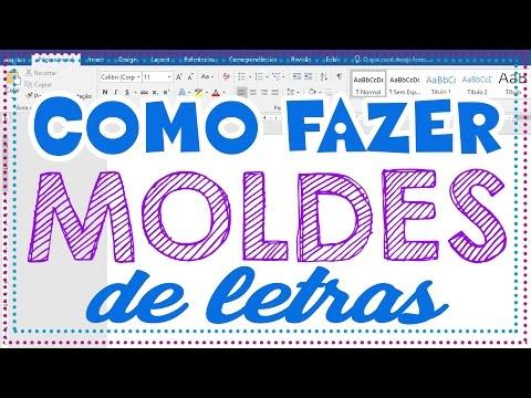 Moldes De Letras Como Fazer Moldes De Letras No Word Youtube