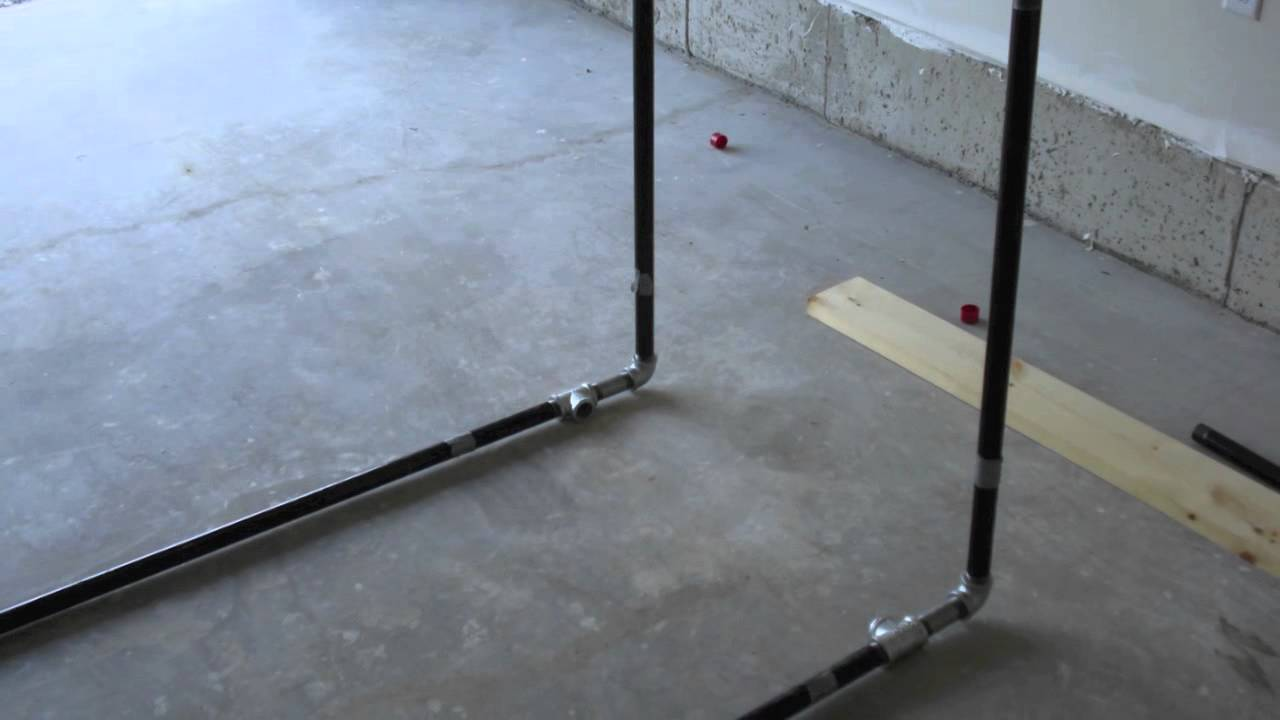 How To Make A Pull Up Bar For Under 100 Youtube