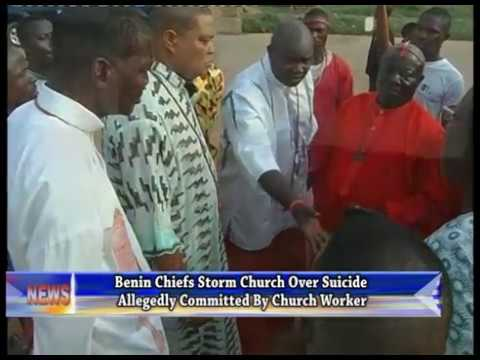 Benin chiefs storm church as worker allegedly commits suicide