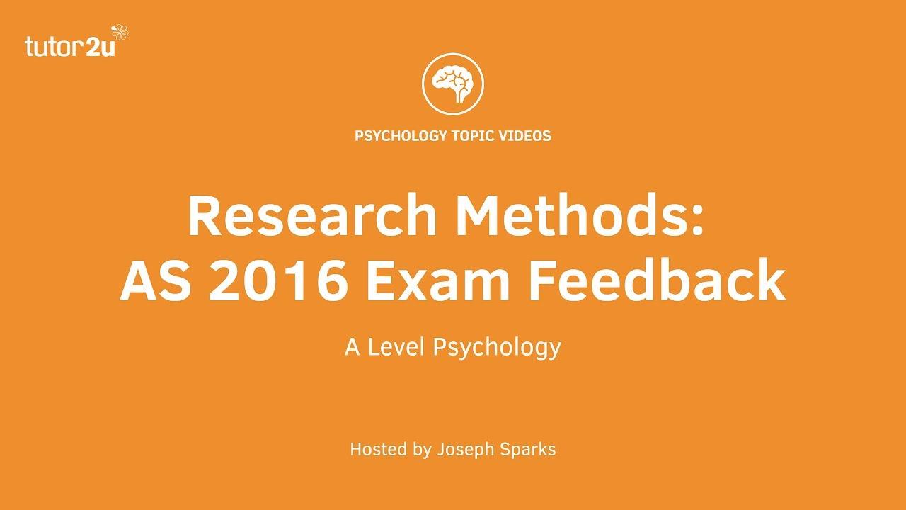 research methods exam