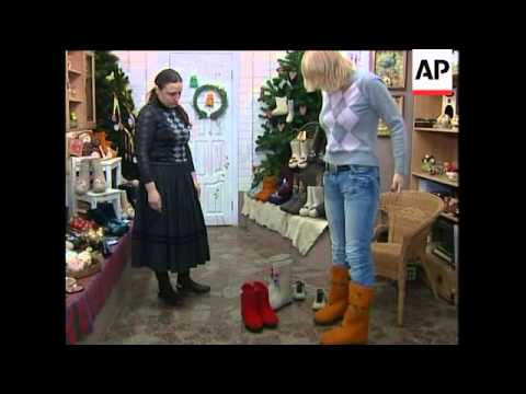 Traditional Russian boots get a make over