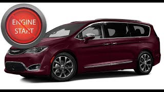 Chrysler Pacifica: Open and start push-button start newer models with a dead key fob battery.
