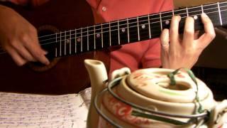 Kiếp Dã Tràng. Từ Công Phụng, Nha Trang, Hạ 1968. Semi-Classical Guitar.Trémolo.