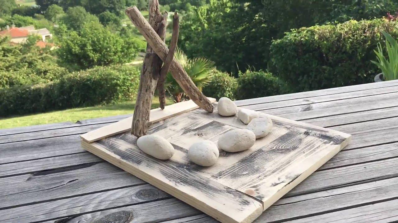 Bricolage socle a bougie bois flott youtube for Bricolage bois flotte