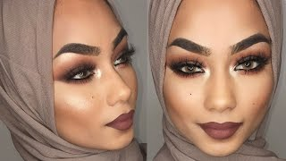 brown smokey eye makeup tutorial   sabina hannan