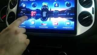 VW TIGUAN Unison Android 4 экран 10.2 HD установка замена штатной магнитолы